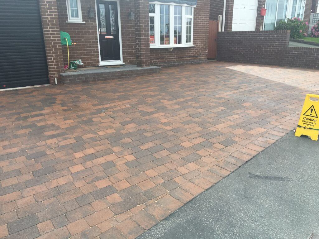 Block paver cleaning